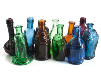 colourful minitature bottles