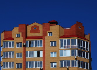 The upper floors of multistory building