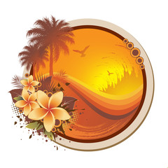 Tropical Floral Frame