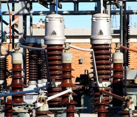 Detalle bobinas transformador alta tension