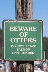 Warnung vor den Ottern
