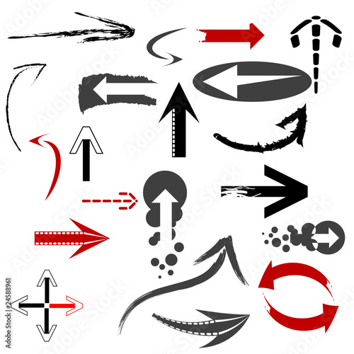 Set of arrows. Vector version available in my gallery.