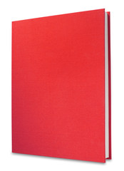 Red book, isolated with clipping path