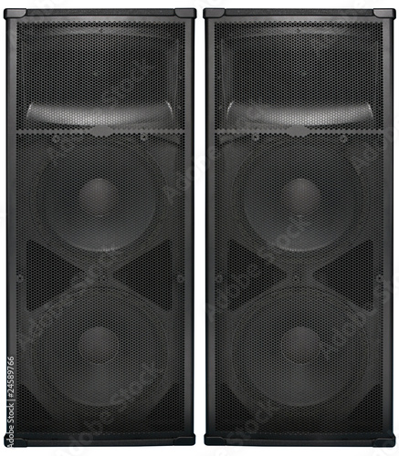 Big Audio speakers isolated on white