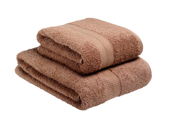 Towels isolated on white background with Clipping Path