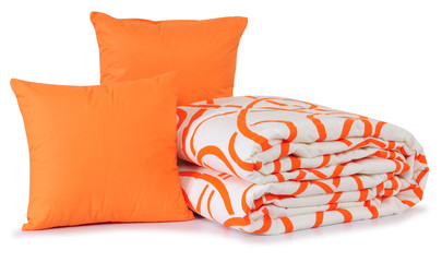 Orange bedding. Isolated