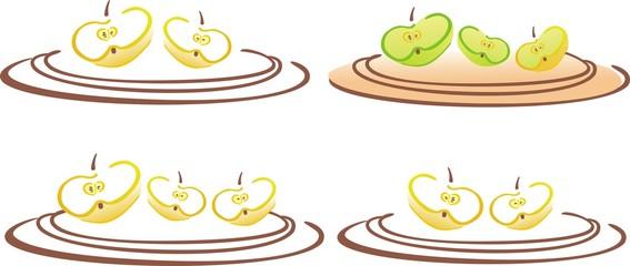 stilyzed vector apples cloves
