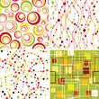 Set of seamless geometic backgrounds.
