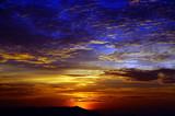 Fototapety Sunset in mountains Matang. Borneo.