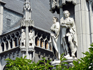 Statues of aristocrats, episcopal palace of Liège, Belgium