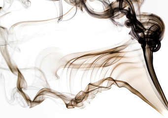 brown smoke on white background