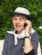 Leinwanddruck Bild - Seniorin beim Telefonieren - Senior Phone Call