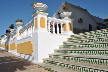 Stairs in white Andalusian house