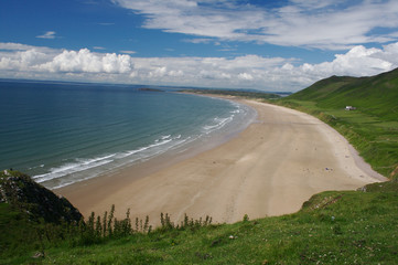 Peaceful Beach at the Gower Peninsula