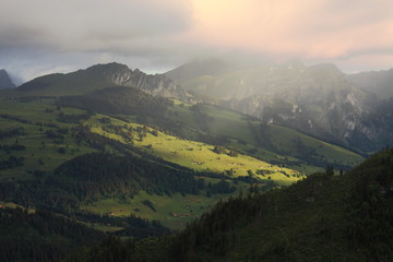 Morning alpine view