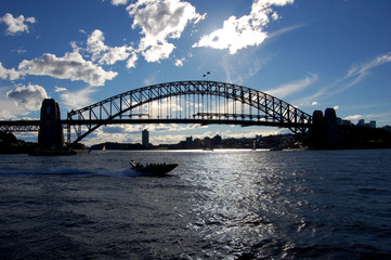 A Silhouette of Sydney Harbour Bridge
