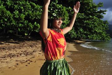 young hula dancer