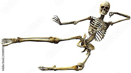 skeleton karate kick