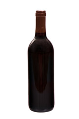 Wine bottle isolated on white background, studio shot