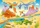 Fototapete Anblick - Dinosaurier - Reptilien / Amphibien