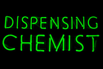 Dispensing chemist neon sign