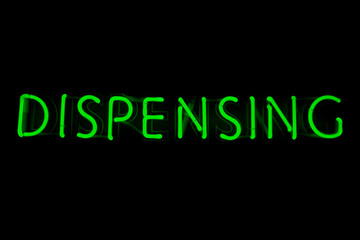 Dispensing neon sign