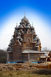 Wooden orthodox church in name of Cover All-holy mother of God
