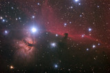 Nebular complex in Orion's Belt. Horse head, Flaming tree.