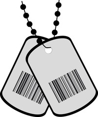 two tags with a barcode