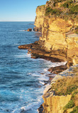 Sea cliffs near Bondi Beach, Sydney, Australia