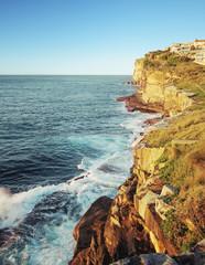 Sea cliffs near Bondi Beach, Sydney, Australia