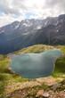 Lake in Alps - Lago Negro, road to Passo di Gavia