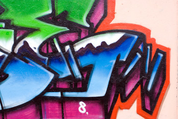 Graffiti with digit 8