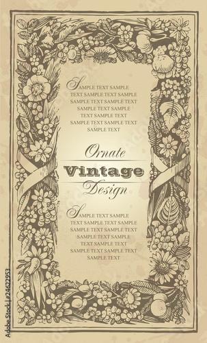 vintage frame design (vector) © Mila Petkova