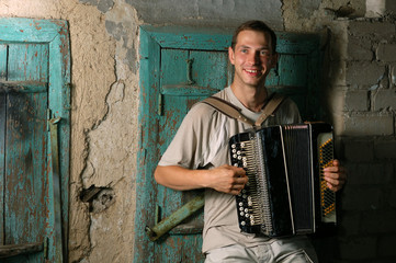 happy button accordion player