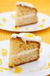 Two slices of lemon cake