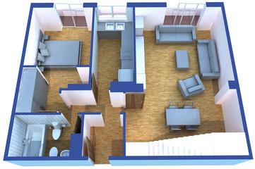 planta piso apartamento