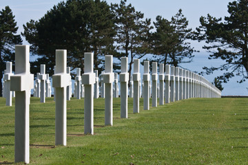 American WWII cemetery .in Normandy
