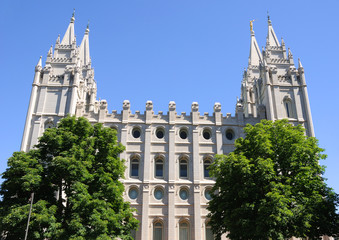 Mormon Temple in Salt Lake City, Utah