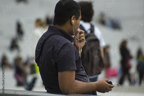 Man with smartphone