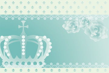 Blue Crown Background