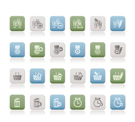 24 Business, office and website icons - vector icon set 1