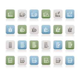 24 Business, office and website icons - vector icon set 2