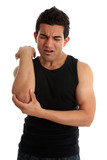 Man with excruciating injury or pain poster