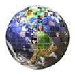 Leinwanddruck Bild - Global Network of People
