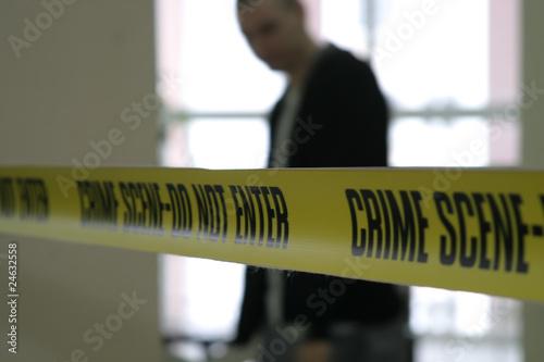 Crime scene police line tape