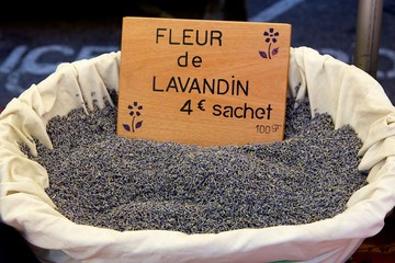 A basket of Lavender in a French Market