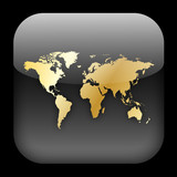 INTERNATIONAL Web Button (world map global travel go worldwide) poster