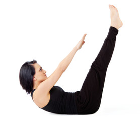 Woman sit-ups exercise