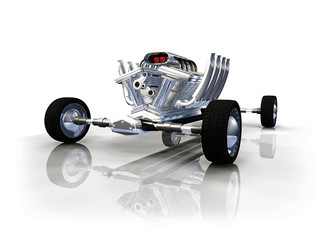 Moteur design auto 3D tuning